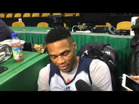 Westbrook: Shootaround in Boston