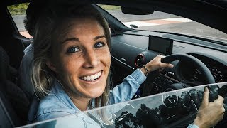 GIRLFRIEND DRIVES THE AUDI R8+