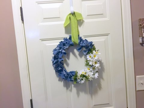 Old Blue Jeans to New Wreath