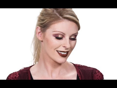 Glam Gold Holiday Look With NYX Professional Makeup