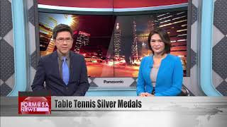 Table tennis players win silver medals in the ITTF World Tour Grand Finals men's doubles e...