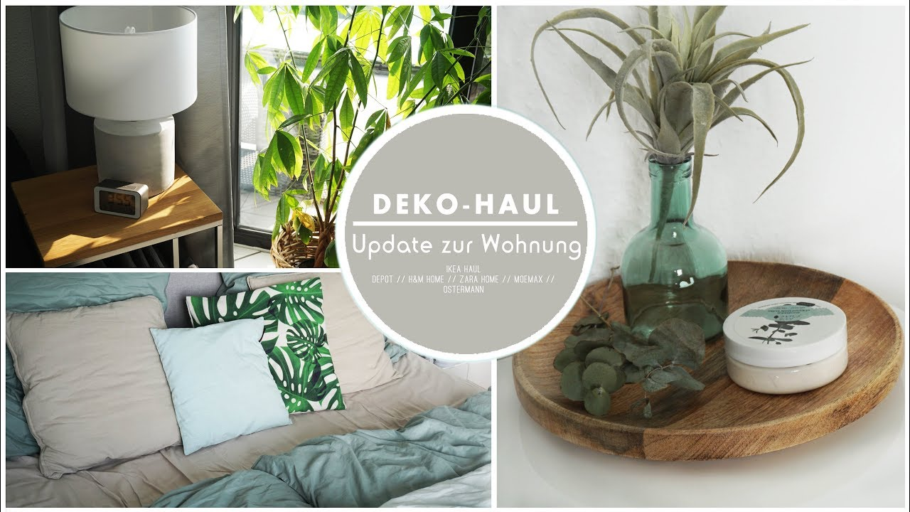 deko haul wohnungstour update schlafzimmer ikea haul depot amazon h m zara home. Black Bedroom Furniture Sets. Home Design Ideas