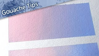 [ How to Use Gouache ] // Tutorial for Beginners — Tips for Painting Gradients // Mary Sanche