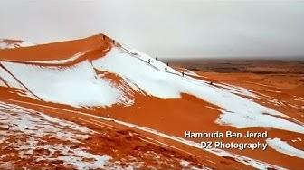 Wetterphänomen: Schnee in der Wüste