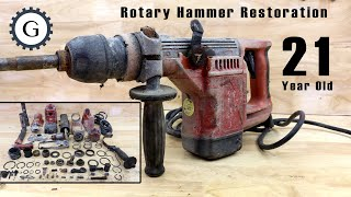 21 Year Old Rotary Hummer Restoration | Hilti TE504 Hammer Year 1998