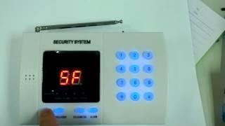 CK-AL-9903 99 Zone Home Alarm Security System Keypad Lock Demo