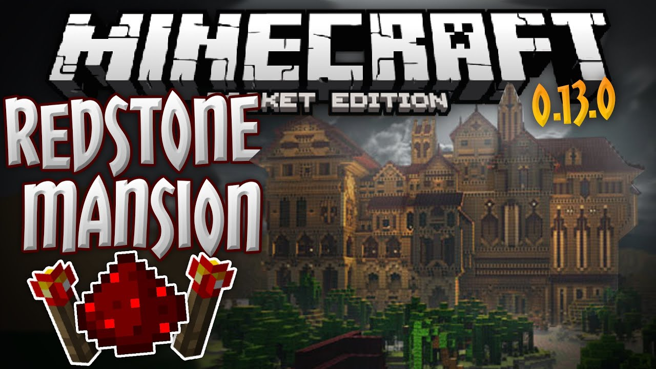 REDSTONE MANSION Official Mojang Adventure Map For - Kostenlose maps fur minecraft pe