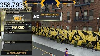 NBA 2K20 - HITTING 99 OVERALL LIVE! HUGE PARK WINSTREAK - ROAD TO LEGEND! BEST BUILD & JUMPSHOT