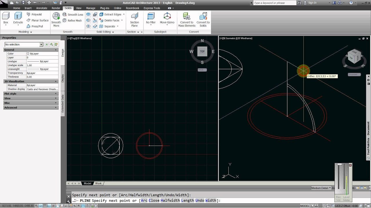 How To Draw A Shallow Dome In Autocad Architecture Youtube