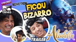 🎬 Aladdin FICOU BIZARRO - Reaction Irmãos Piologo Filmes
