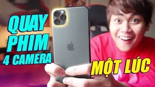 CÁCH ĐỂ QUAY VIDEO... 4 CAMERA MỘT LÚC TRÊN iPHONE 11 PRO:)))