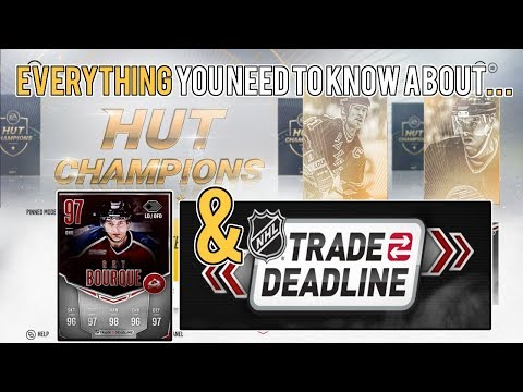 NHL 18 NEW UPDATE! |  HUT Champions and Trade Deadline Event Details