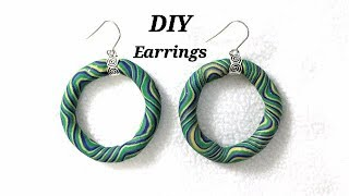 DIY - How To Make Awesome Earrings With Polymer Clay  | Jewelry Making Tutorial