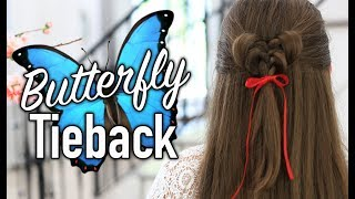 How to Create a Butterfly Tieback | Beautiful and Cute Hairstyles for Girls