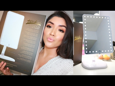 IMPRESSIONS VANITY TOUCH PRO LED MAKEUP MIRROR REVIEW/DEMO