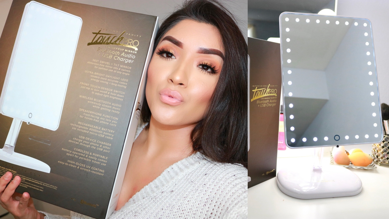 Impressions Vanity Touch Pro Led Makeup Mirror Reviewdemo Youtube