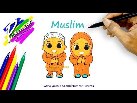 Muslim Menggambar Mewarnai Gambar Kartun Anak Youtube
