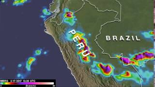 One Week of Rainfall Over Peru
