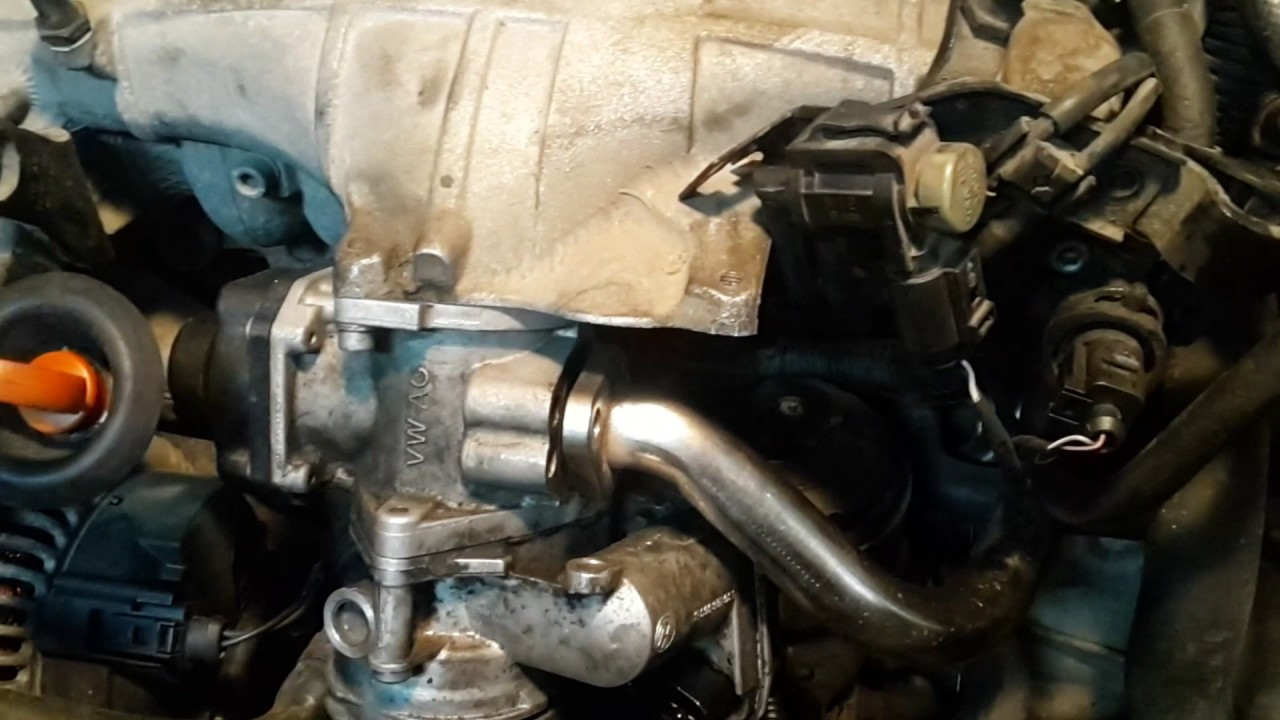 How To Easy Remove Egr On Passat B6 20 Tdi Bkp Engine Youtube