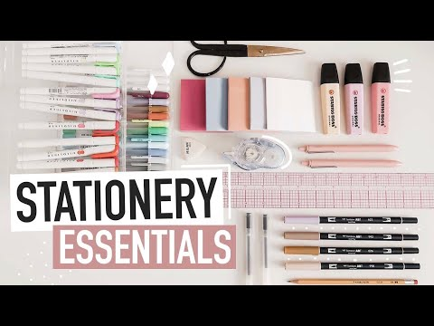STATIONERY ESSENTIALS for note-taking & journaling | back-to-school supplies