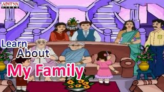 Learn About My Family - Kids Pre And Play School Nursery Rhymes