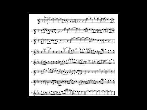 Bach / Sonata in sol minore,BWV 1020 /  Adagio accompaniment
