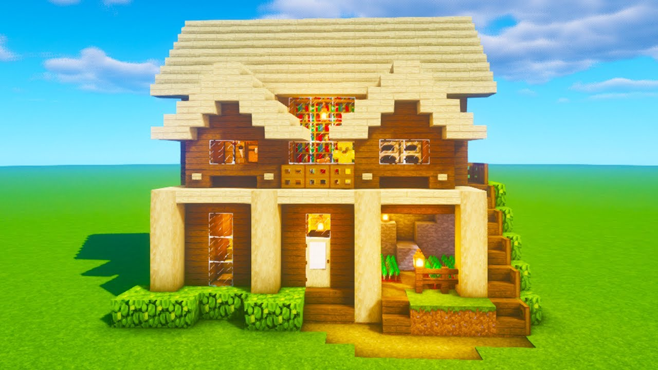 """Minecraft Tutorial: How To Make A Wooden Cliff House """"2020 ..."""