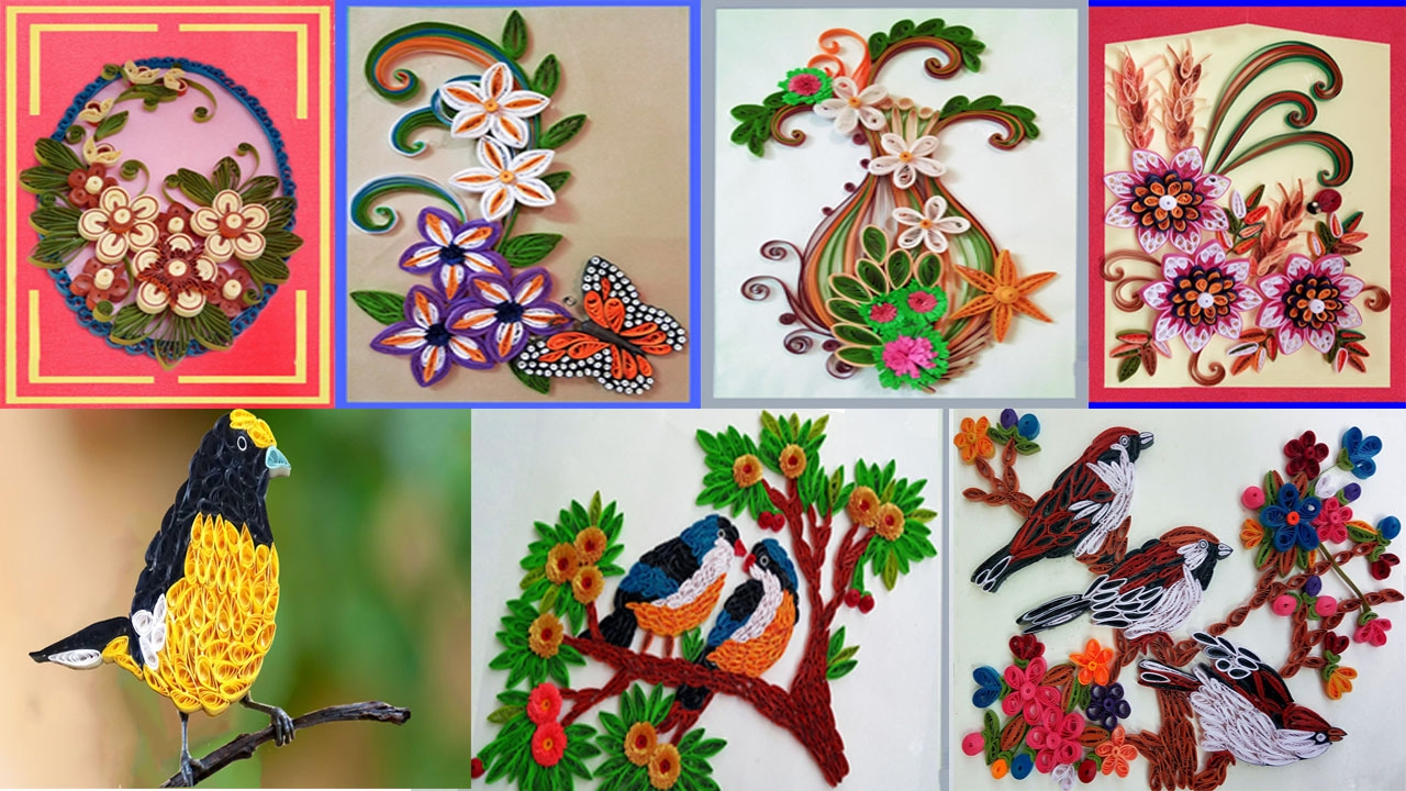 Paper quilling art quilling designs for latest for Paper quilling art projects