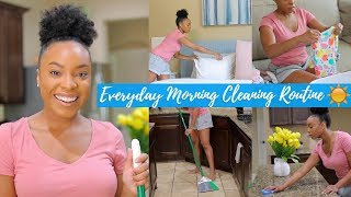 EVERYDAY MORNING CLEANING ROUTINE 2018 | SPEED CLEAN WITH ME | CLEANING MOTIVATION