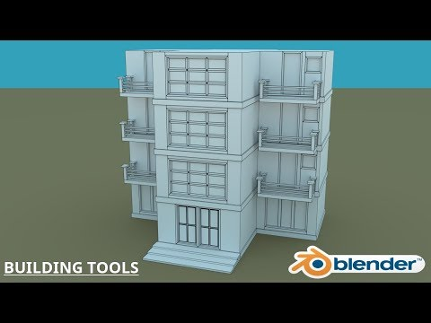 Blender Building Tools - Early Preview - YouTube