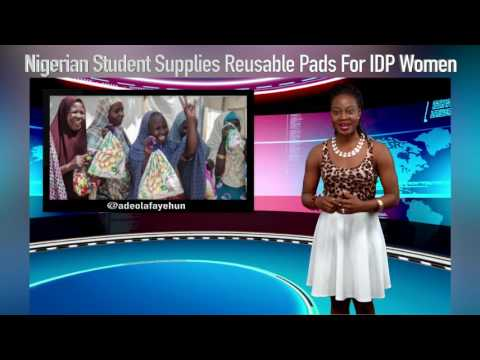 Nigerian Student Supplies Reusable Pads For Women In IDP Camps