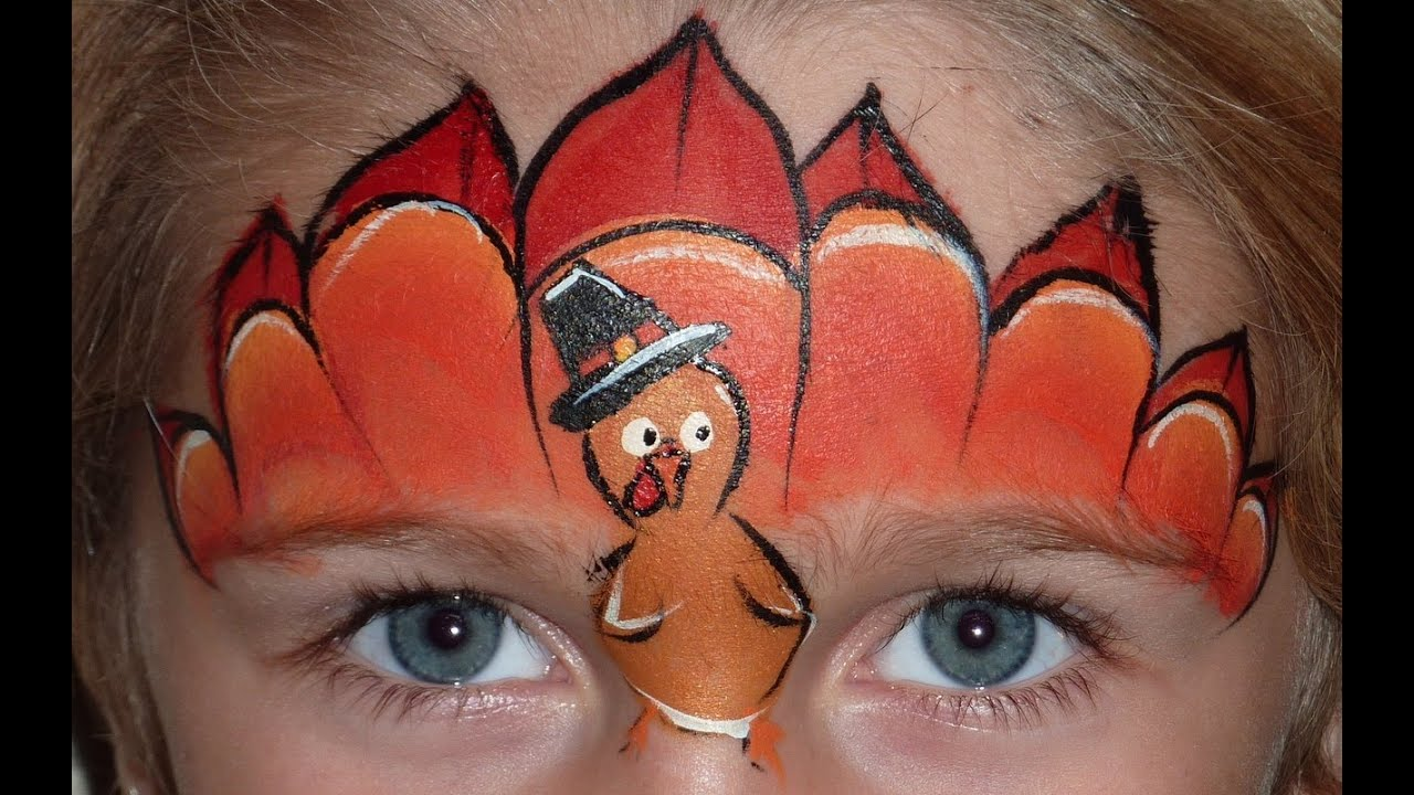 Thanksgiving Turkey Face Painting