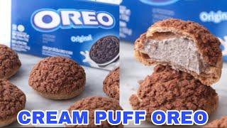 Kue Sus OREO Crunchy   Choux Au Craquelin   Cream Puffs
