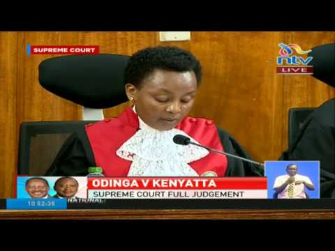Deputy Chief Justice Philomena Mwilu's judgement