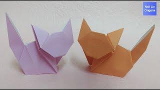 簡單摺紙貓咪教學 / 如何用紙製作可愛的立體小貓咪 手工折紙DIY