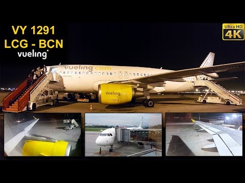 TRIP REPORT | Vueling Airlines | CORUÑA - BARCELONA | Double Camera On Board!
