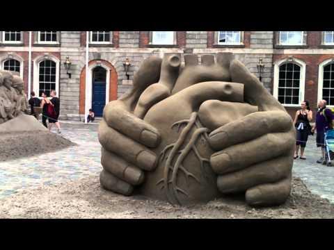 Sand Sculpture, Amazing Art Work. Dublin Castle, August 2013