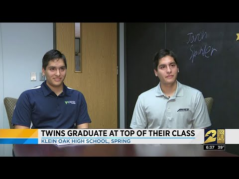 Twins to graduate at top of their class at Klein Oak High School