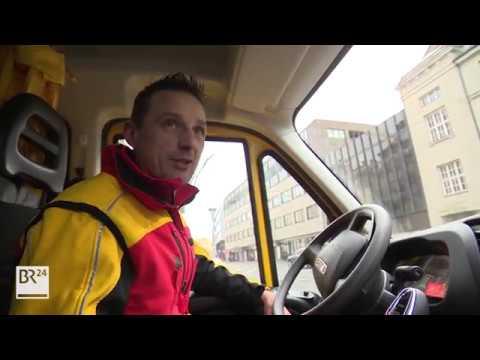 Ein Tag mit dem DHL-Paketdienstfahrer im Vorweihnachts-Stress