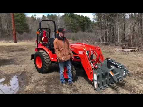 Kioti CK2610 HST Tractor w/ Loader & Worksaver 48 Grapple & Igland 3501 PTO Logging Winch