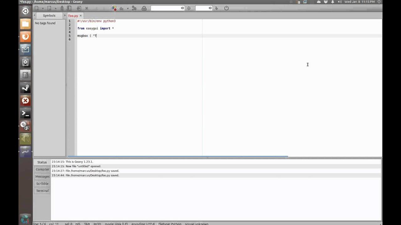 Python Tutorial - EasyGUI Part 1 - Message Box