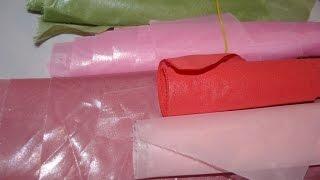 Как желатинить ткань для цветов ?! Обработка ткани. Смотрите ;)(Как обработать ткань для цветов, как желатинить ткань в домашних условиях = поделюсь маленьким опытом! Как..., 2015-10-28T21:59:46.000Z)