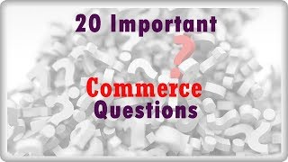 20 important commerce questions | verka clerk cum typist