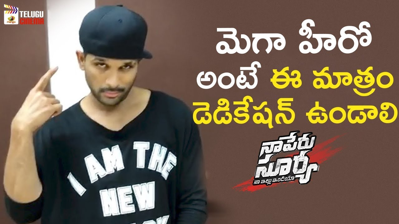 Download Allu Arjun Cap Tricks | Lover Also Fighter Also Song Making | Naa Peru Surya Naa Illu India | #NSNI