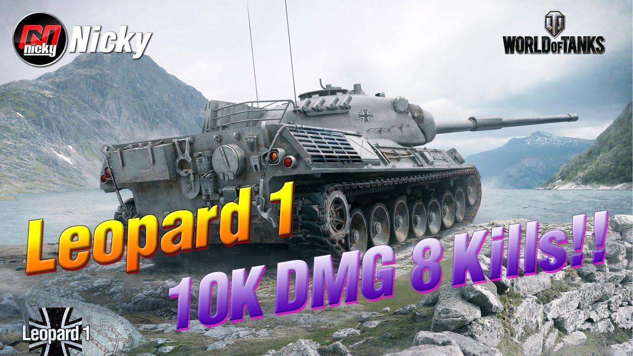World Class Replay || Leopard 1 : 10K DMG 8 Kills!!