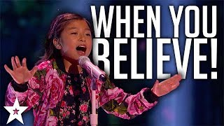 Celine Tam WOW Judges with Whitney Houston & Mariah Carey Cover on America's Got Talent