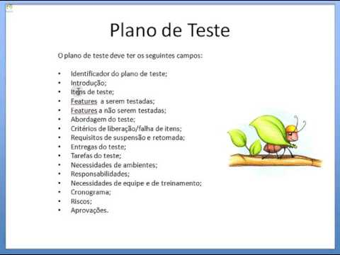 Teste de Software - Plano de Teste
