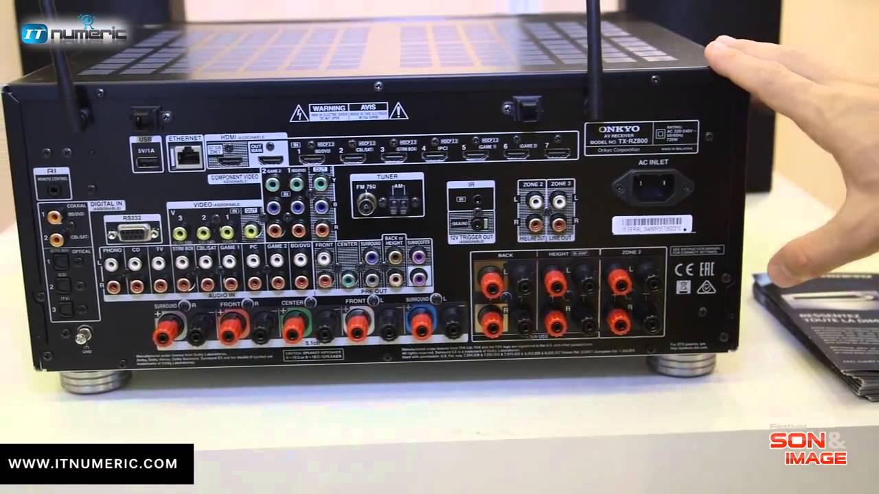 Onkyo Tx Rz 800 Ampli Home Cin U00e9ma 7 2 Certifi U00e9 Thx Select2