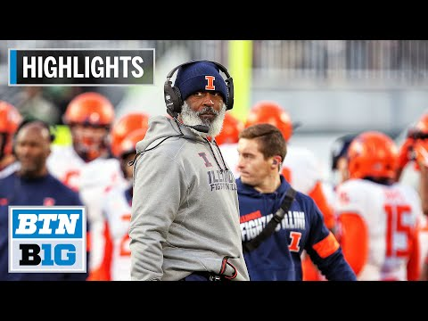 Highlights: Peters Tosses 3 Touchdowns in Wild Win |  Illinois at Michigan State | Nov. 9, 2019