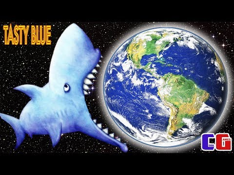 Tasty Blue #10 ЗУБАСТАЯ АКУЛА СЪЕЛА ЗЕМЛЮ! ФИНАЛ! Игровой мультик для детей от Cool GAMES